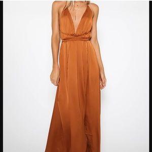 Peppermayo Copper Tie Dress